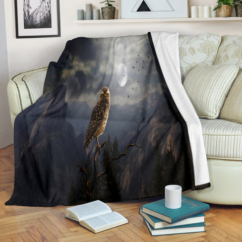 Owl In The Wilderness Premium Blanket