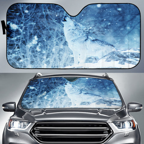 Howling Wolf Auto Sun Shade - Express Shipping