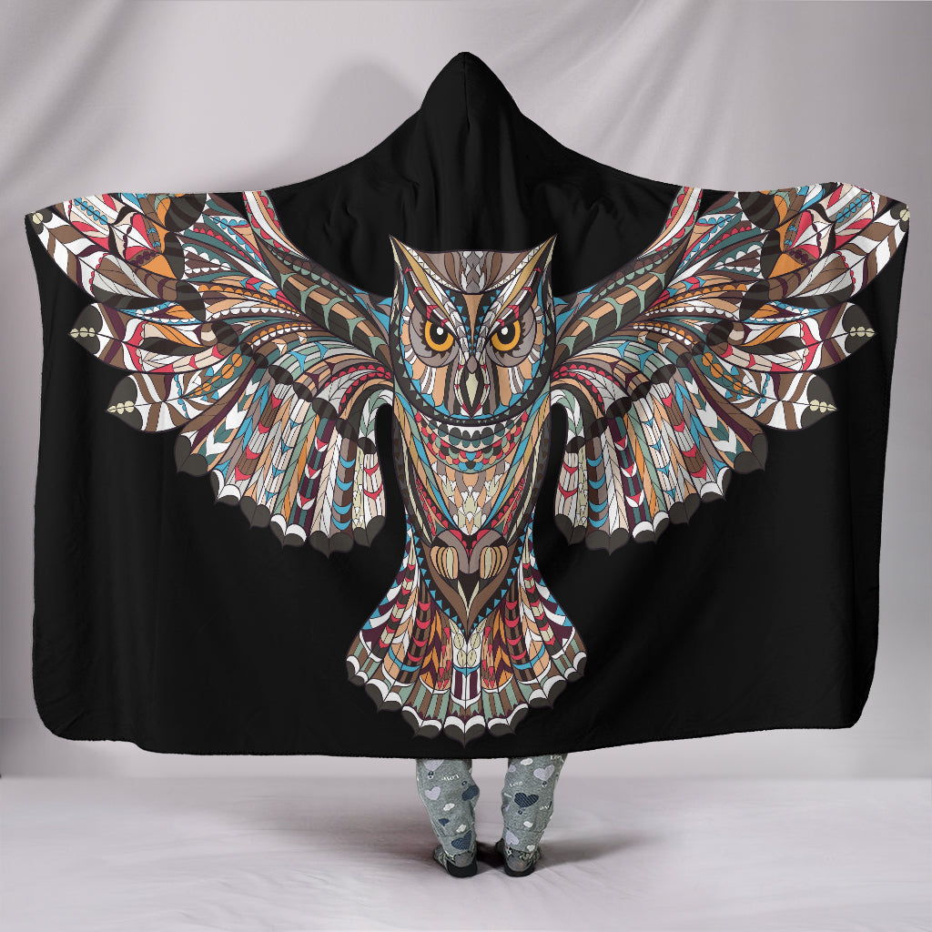 Fierce Owl Hooded Blanket - Express Shipping