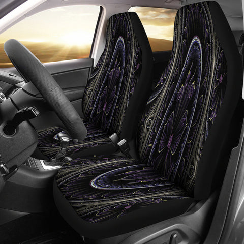 Floral Fractal Car Seat Covers