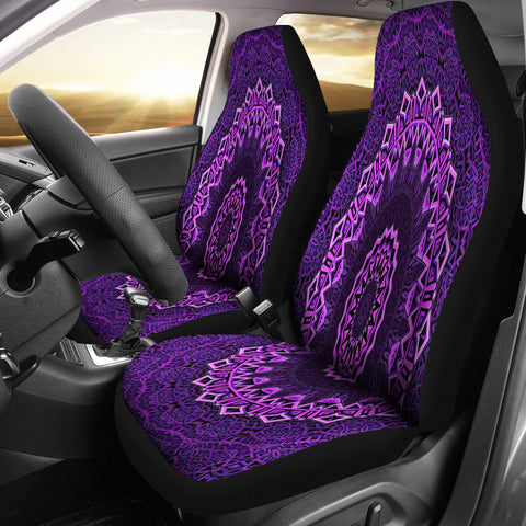 Purple Mandala Car Seat Cover