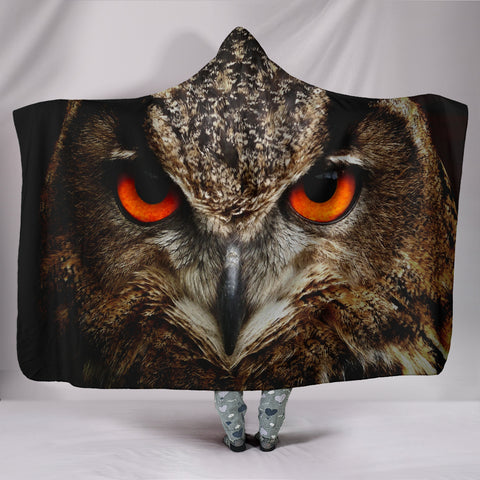 Owlsome Look Hooded Blankets