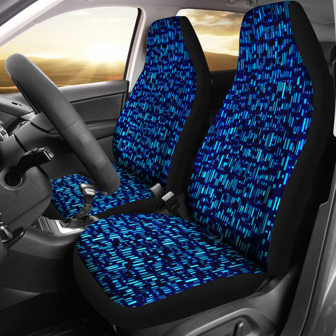 Blue Boxes Car Seat Cover