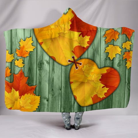I Love Maple Leaves Hooded Blankets