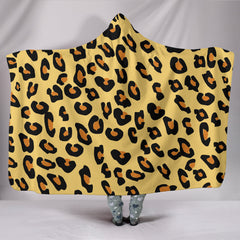 Chic Leopard Printed Hooded Blankets