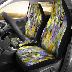 Beautiful Flowers Car Seat Covers