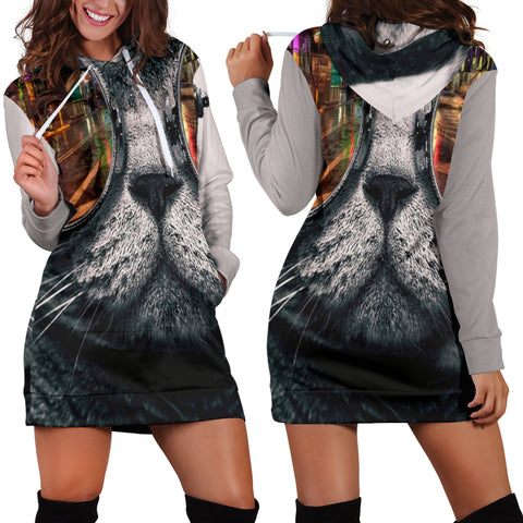 Cat Women's Hoodie Dress - Express Shipping
