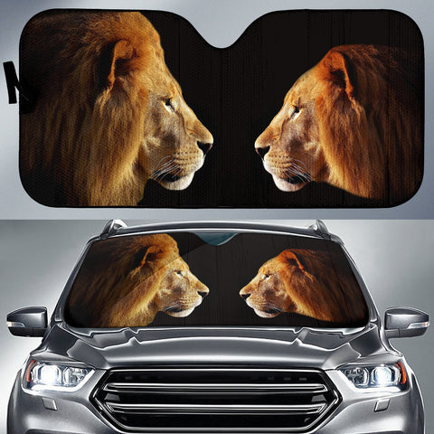 Lion & Lioness Auto Sun Shade -  Express Shipping