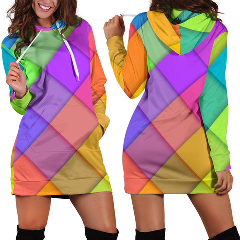 Love Pastel Colors Women's Hoodie Dress