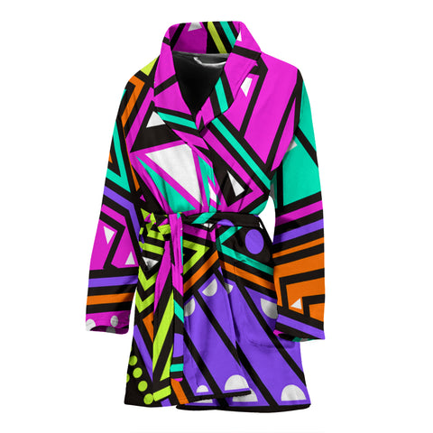 Shapes And Colors Women's Bath Robe