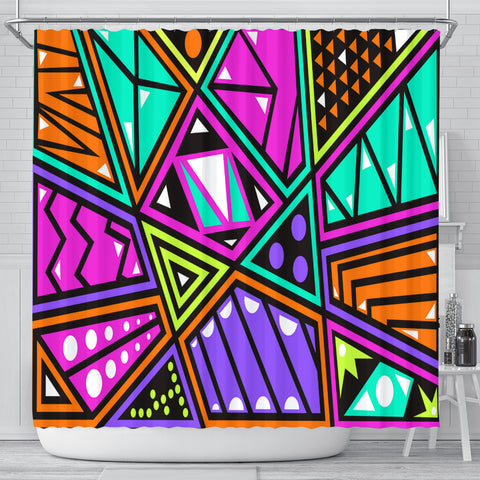 Shapes And Colors Shower Curtain