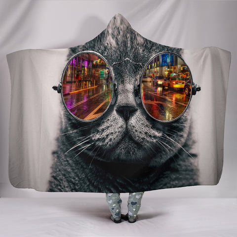 Cat Hooded Blanket - Express Shipping
