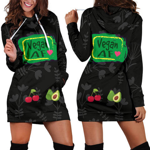 Vegan AF Hoodie Dress for Healthy Vegans