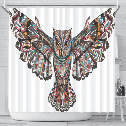 Fierce Owl Shower Curtain