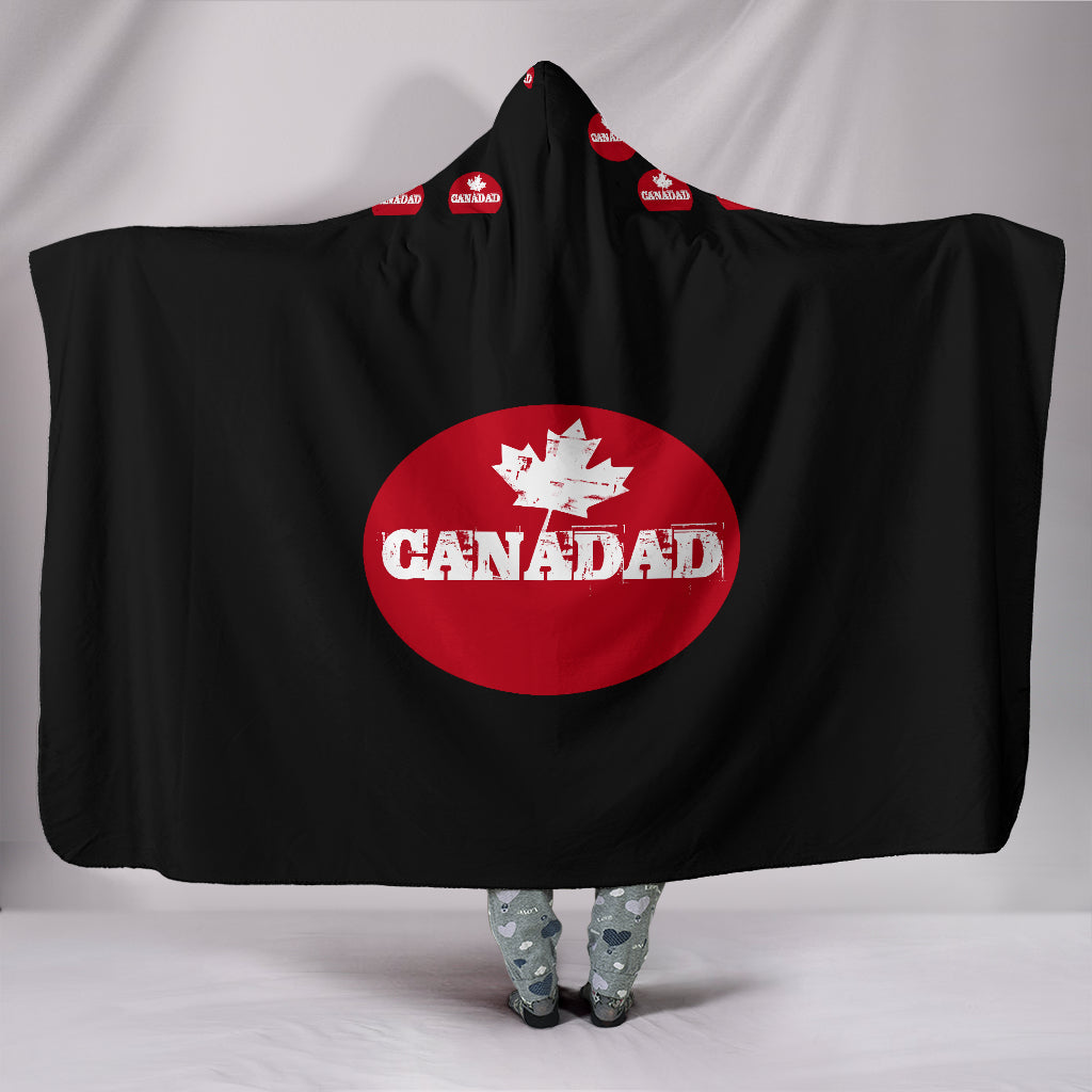 Customised Hoodie Blanket Oval Canadian Dad