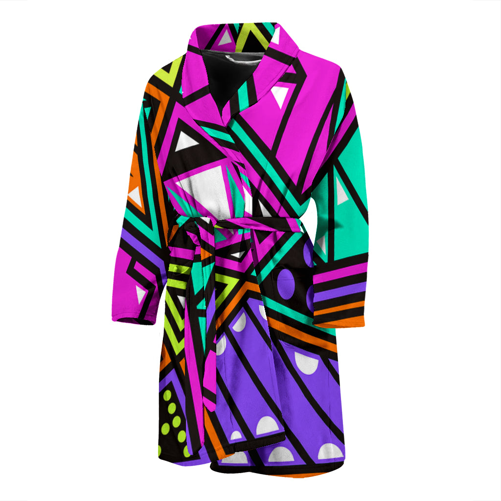 Shapes And Colors Men's Bath Robe