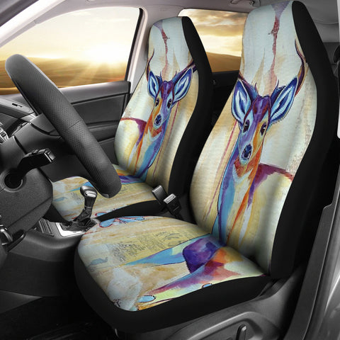 Deer Painting Car Seat Cover