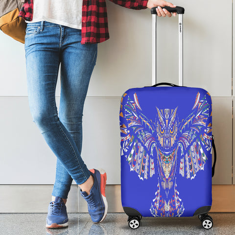 Blue Fierce Owl Luggage Covers