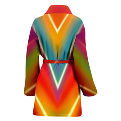 Colorful Abstract Women's Bath Robe
