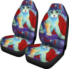 Cute Cat Car Seat Covers