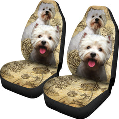 West Highland White Terrier Car Seat Covers (Set of 2)