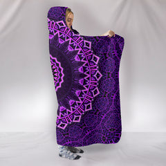 Purple Mandala Hooded Blankets