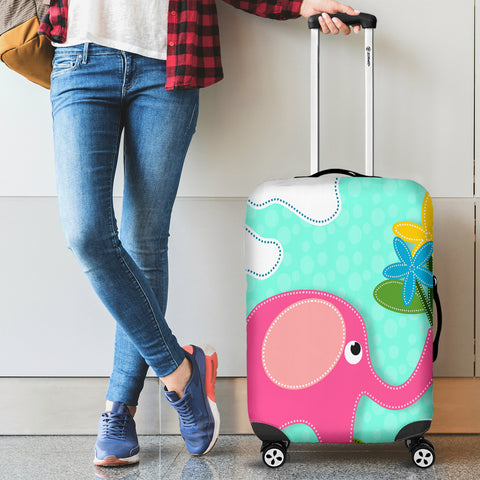 Pink Elephant Luggage Covers
