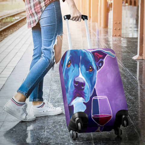 Dog Wine Lover Luggage Covers