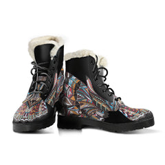 Fierce Owl Faux Fur Leather Boots
