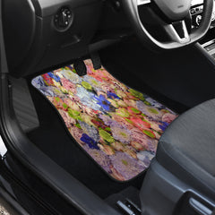 Chic Floral Front Car Mats