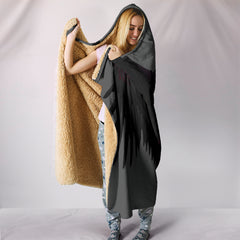 Dark Angel Wings Hooded Blankets