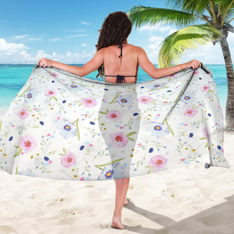 Pink And Purple Floral Sarong