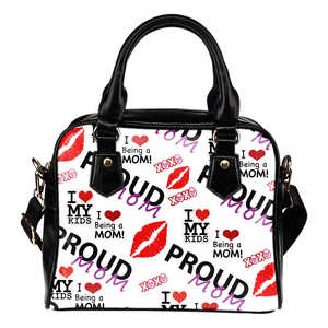 Proud Mom Shoulder Handbag