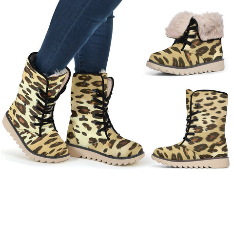 Leopard Polar Boots - Express Shipping