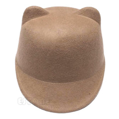Cute Kitty Cat Ears Wool Derby Cap - FREE PLUS SHIPPING PROMOTION