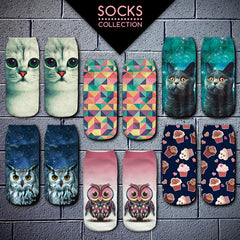3D Owl Women Printed Socks