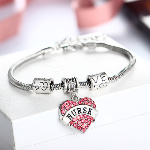 Crystal Love Nurse Bracelet