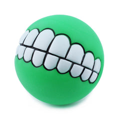 Puppy Dog Funny Teeth Chew Ball Toy