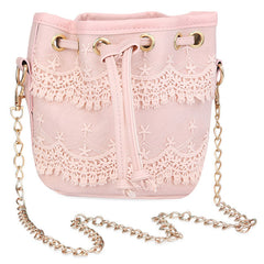 Women Lace String Handbag