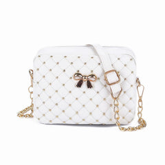 Leather Quilted Crown Handbag - Free Plus Shipping Promotion