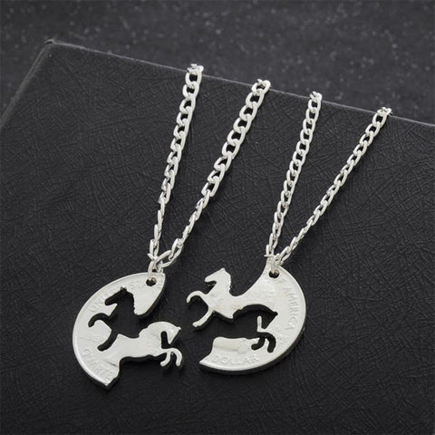 Horse Puzzle Pendant Necklace