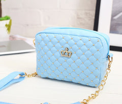 Leather Quilted Crown handbag