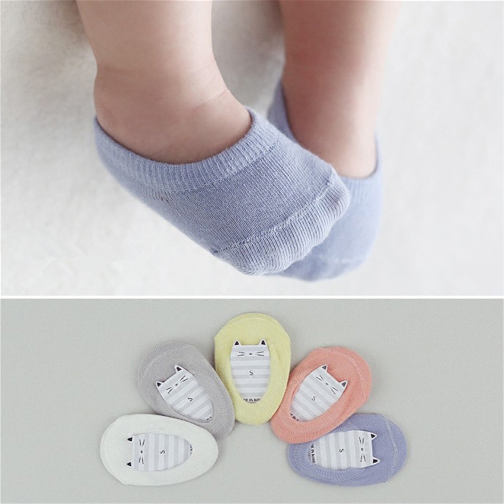 Candy Color New Born Baby Socks