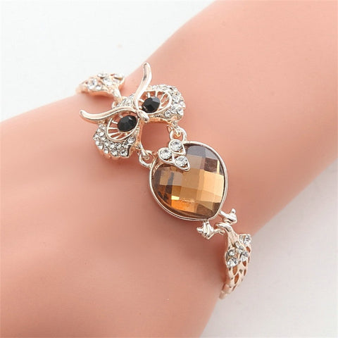 Owl Chrome Chain Link Bracelets - Free Plus Shipping Promotion