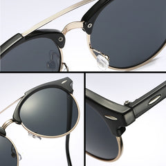 FREE Polarized Aviation Round Sunglasses
