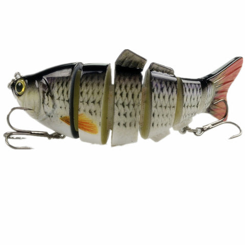3D Eyes Multi Sections 6 Segments Fishing Lure
