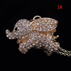 Cute Elephant Pendant Women's Necklace