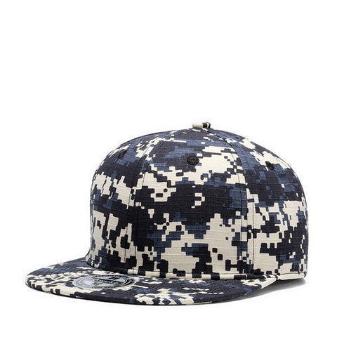 Camouflage Snapback 100% Cotton Baseball Caps
