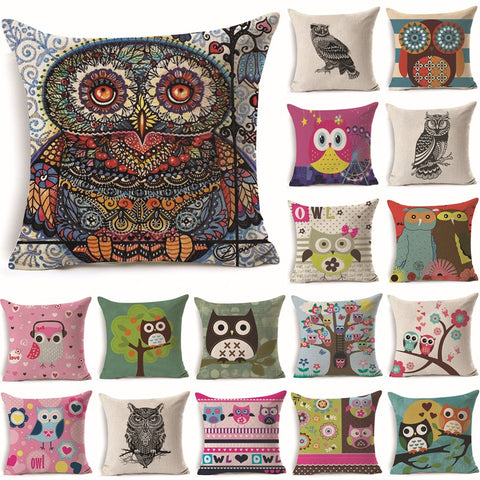 Free Owl Tree Pillow Covers