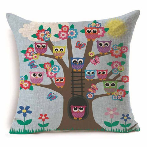 Owl Tree Pillow Covers